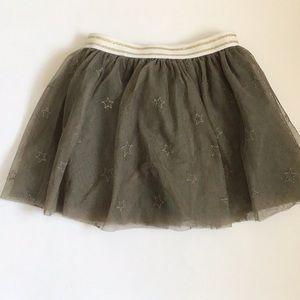 Starry Green Tulle Skirt